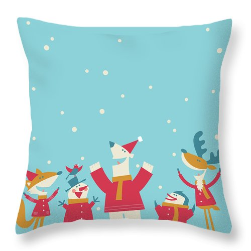 Elf Throw Pillow featuring the digital art Happy Christmas by Akindo
