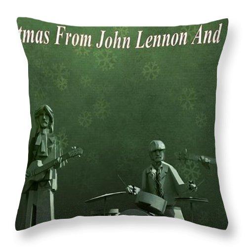 Happy Christmas From John Lennon Throw Pillow featuring the photograph Happy Christmas From John Lennon by Dan Sproul