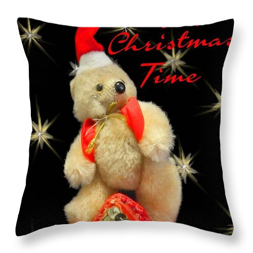 Christmas Throw Pillow featuring the digital art Happy Christmas by Lizi Beard-Ward