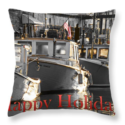 Happy Holidays Throw Pillow featuring the photograph Happy Holidays by Brenda Giasson