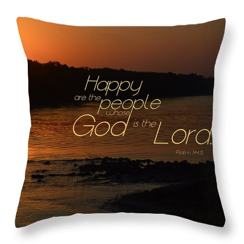 Missouri Throw Pillow featuring the photograph Happy by Kim Blaylock