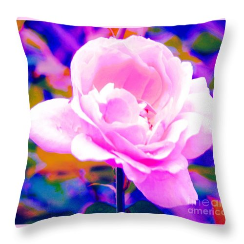 Rose Throw Pillow featuring the photograph Happy Rose by Kathleen Struckle