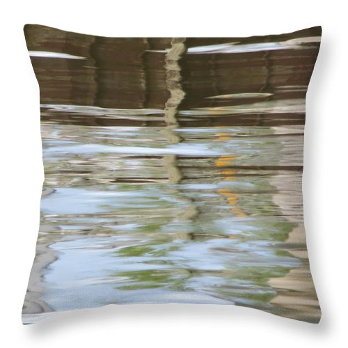 Harbor Throw Pillow featuring the photograph Harbor Impressions by Shawna Rowe