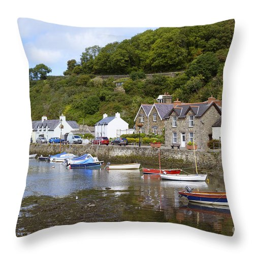 Doug Throw Pillow featuring the photograph Harbourside by Doug Wilton