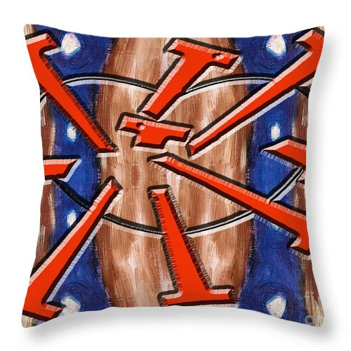 Relationships Throw Pillow featuring the painting Hard As Nails by Patrick J Murphy