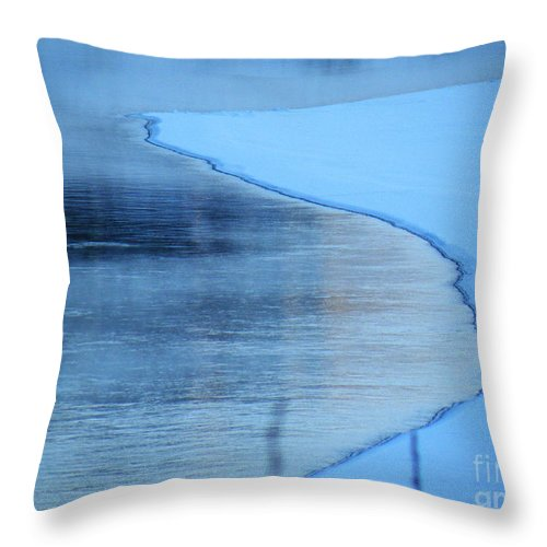 Hard Throw Pillow featuring the photograph Hard Demarcation by Brian Boyle