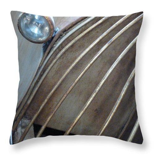 Abstract Throw Pillow featuring the photograph Hard Times by Newel Hunter