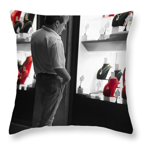 Hard Throw Pillow featuring the photograph Hard To Decide by Pablo Lopez