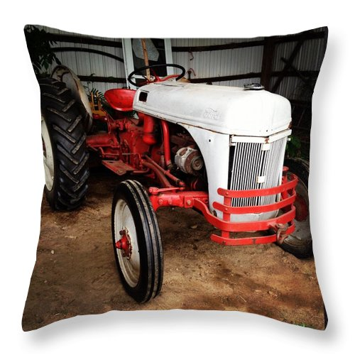 Tractor Throw Pillow featuring the photograph Hard Work Pays Off by Stacey Mills