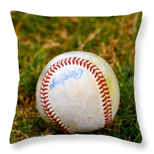 2011 Throw Pillow featuring the photograph Hardball by Darrell Clakley