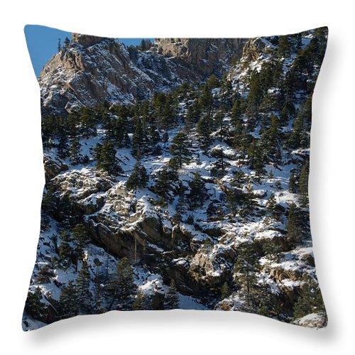 Colorado Photographs Throw Pillow featuring the photograph Hardscrabble by Gary Benson