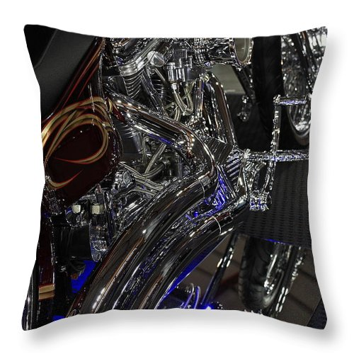13 Annual Meguiar's Motorex Throw Pillow featuring the photograph Harley Heaven by Ian Ramsay