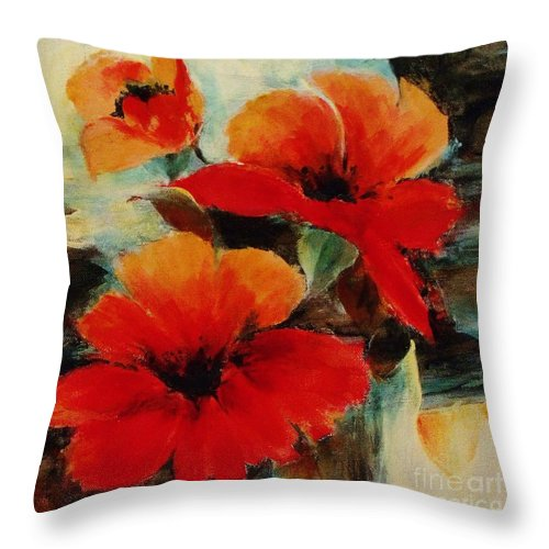 Canvas Prints Throw Pillow featuring the painting Harmony 2 by Madeleine Holzberg