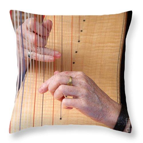 Harp Throw Pillow featuring the photograph Harp by Henrik Lehnerer