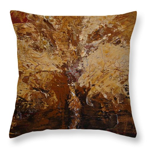 Tree Throw Pillow featuring the painting Harvest by Holly Picano