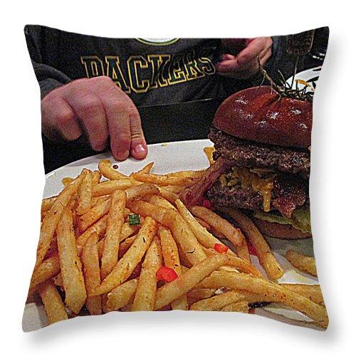 Food Throw Pillow featuring the photograph Hash House A Go Go by Kay Novy
