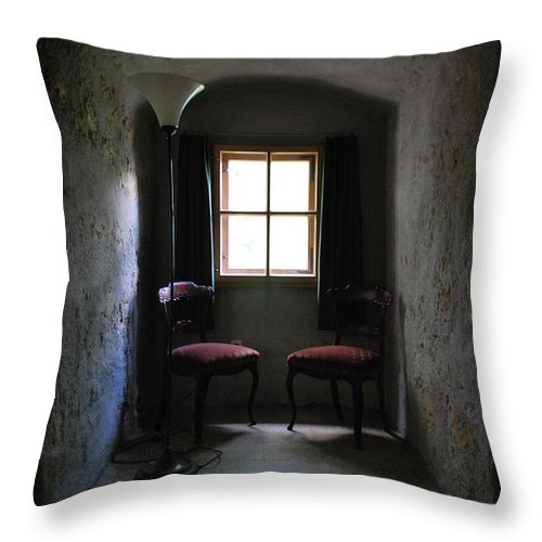 Chair Throw Pillow featuring the photograph Have A Seat by Richard Booth