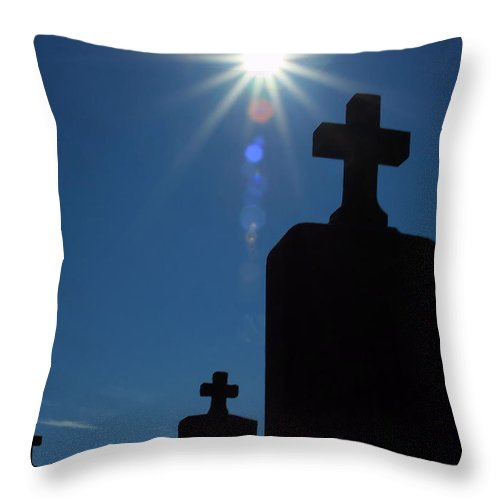Cemetery Throw Pillow featuring the photograph Have Faith... by Karol Livote