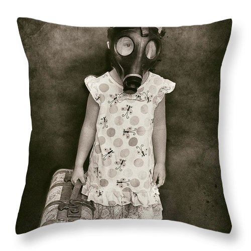 Have Mask Will Travel Throw Pillow featuring the photograph Have Mask Will Travel by Timothy Denehy