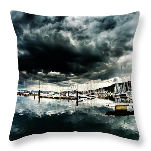Largs Throw Pillow featuring the photograph Haven by Aneta Sarna-Blachani