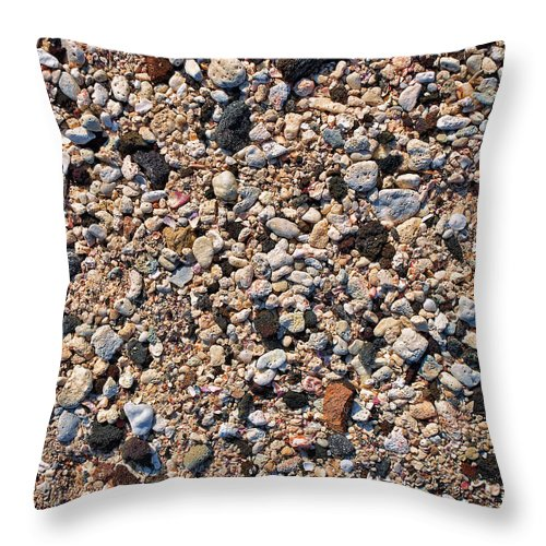 Hawaii Throw Pillow featuring the photograph Hawaii Beach Sand by Kelley King