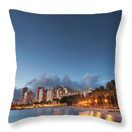 Honolulu Throw Pillow featuring the photograph Hawaii, Oahu, Honolulu by Michele Falzone