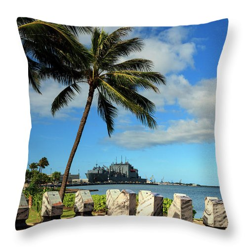 Hawaii Oahu Pearl Harbour Throw Pillow For Sale By Michele Falzone