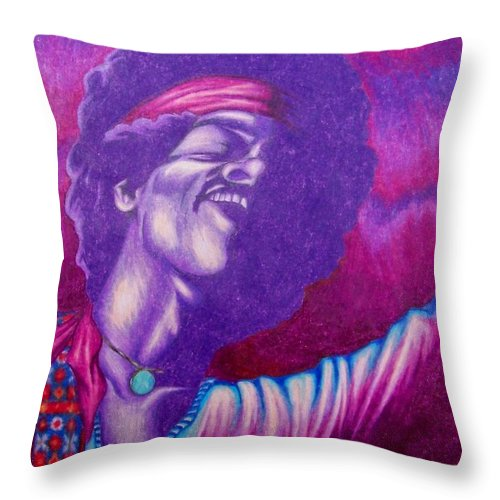 Michael Throw Pillow featuring the drawing Haze by Michael TMAD Finney