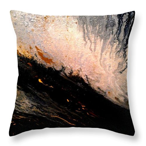 Landscape. Black And White Throw Pillow featuring the painting Hazey by Eric Moore
