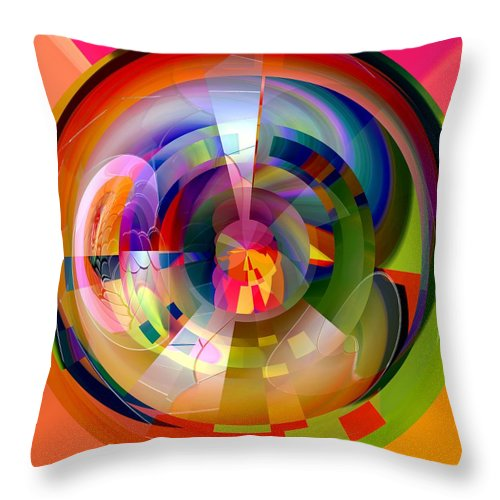 Red Throw Pillow featuring the digital art Redwater by John Holfinger