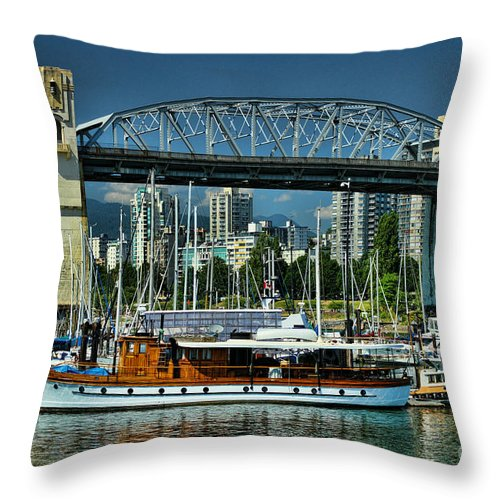 Boats Throw Pillow featuring the photograph Hdrbt3256-13 by Randy Harris