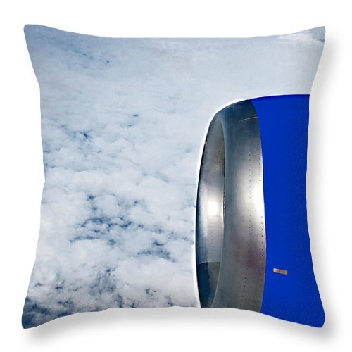 Jet Throw Pillow featuring the photograph Head Above The Clouds by Donna Proctor