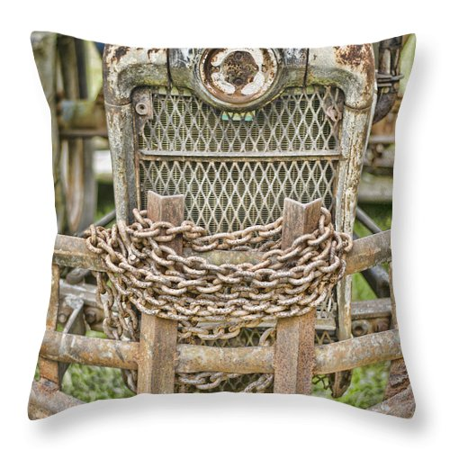 Tractor Throw Pillow featuring the photograph Head On by Heather Applegate