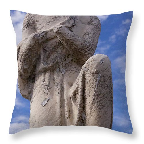 Monument Throw Pillow featuring the photograph Headless Angel  #5622 by J L Woody Wooden