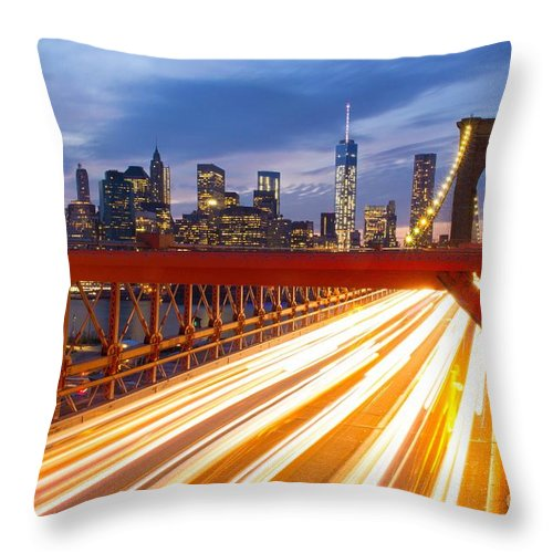 Landscape Throw Pillow featuring the photograph Headlights by Justin Picca