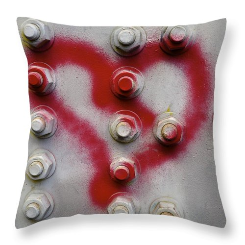 Heart Throw Pillow featuring the photograph Heart by Cathy Mahnke