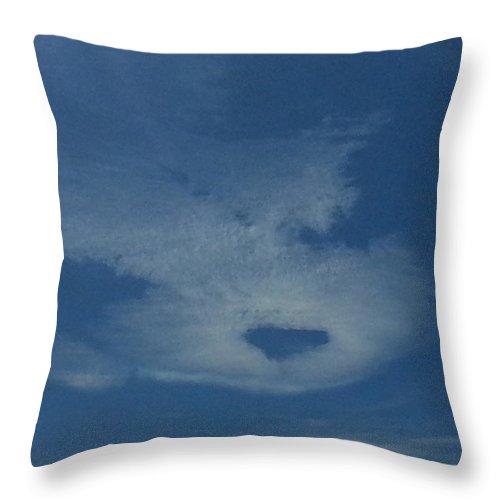 Heart Cloud Throw Pillow featuring the photograph Heart Cloud by Dee Oviatt-Thames