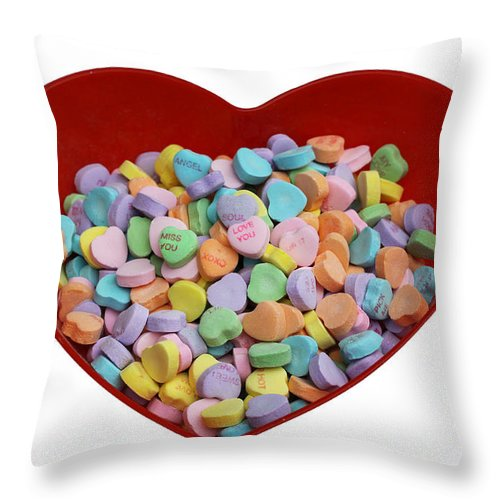 Valentines Throw Pillow featuring the photograph Heart Of Hearts by Diana Haronis