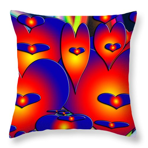Valentines Throw Pillow featuring the photograph Heart To Heart by Marilyn Holkham