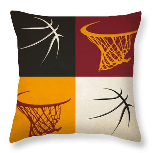 Heat Throw Pillow featuring the photograph Heat Ball And Hoop by Joe Hamilton