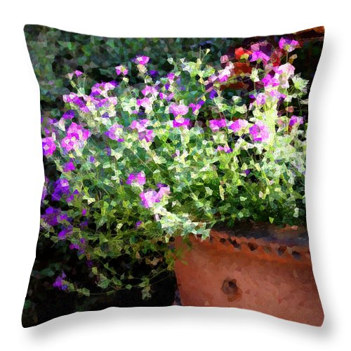 Flower Throw Pillow featuring the photograph Heather Mosaic by Tina Meador