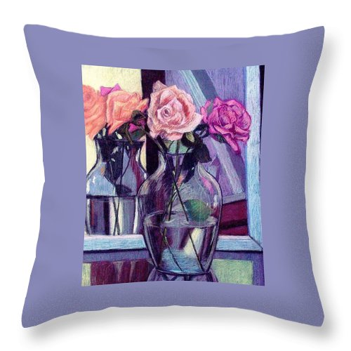 Roses Throw Pillow featuring the painting Heaven Sent by Marita McVeigh