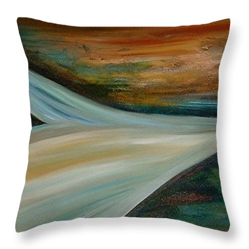Abstract Throw Pillow featuring the painting Heaven by Silvana Abel