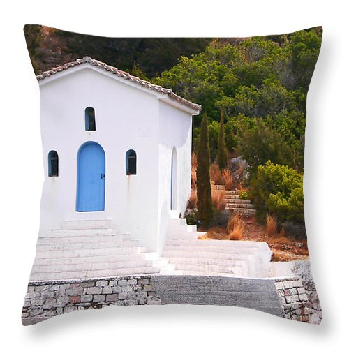 White Throw Pillow featuring the photograph Heavenly by Gillian Singleton