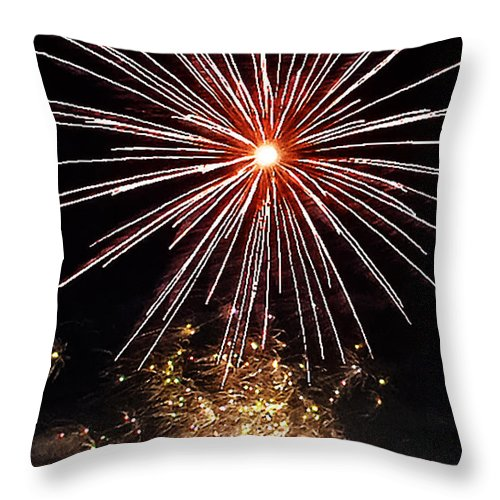 Landscape Throw Pillow featuring the photograph Heavenly Light by Elvis Vaughn