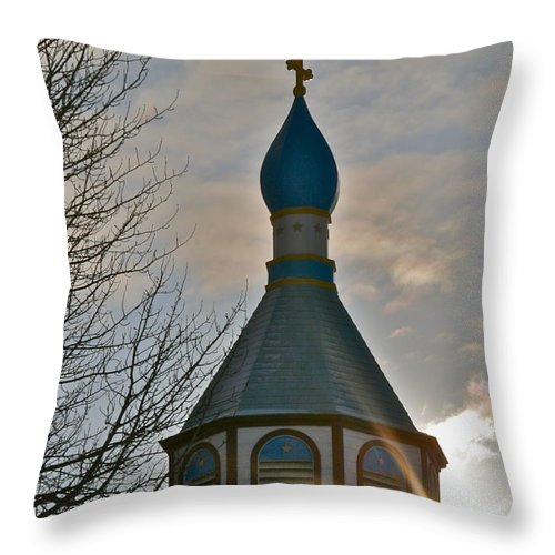 Church Throw Pillow featuring the photograph Heavenly Light by Rick Monyahan