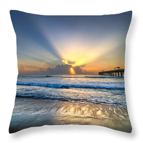 Palm Throw Pillow featuring the photograph Heaven's Door by Debra and Dave Vanderlaan