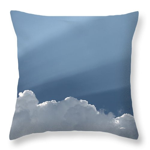 Heaven Throw Pillow featuring the photograph Heavens Premiere by Jennifer E Doll