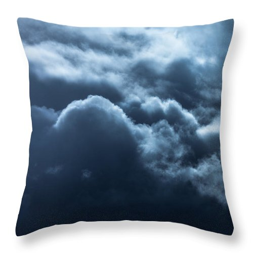 Cloudscape Throw Pillow featuring the photograph Heavenward by Debi Bishop