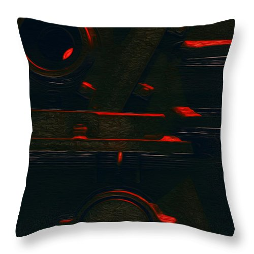 Abstract Throw Pillow featuring the painting Heavy Metal by Jack Zulli